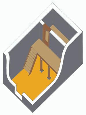 Maison A, phase 2, Vème siècle av. J.-C.