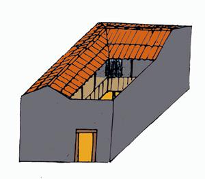 Dessin de la maison A, phase3, IVème siècle av.J.-C.