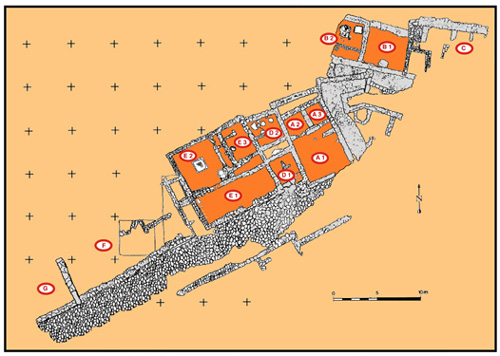 Plan of the southeast sector