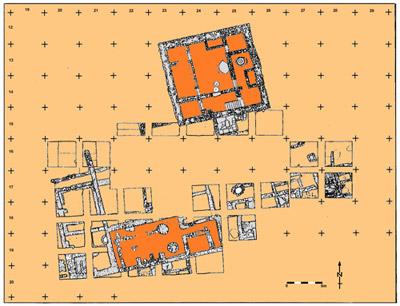 Plan du secteur de l'acropole