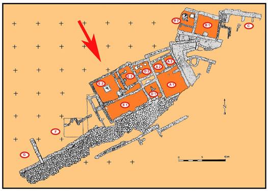"""Plan du secteur sud-est et Localisation du bâtiment """"E"""""""